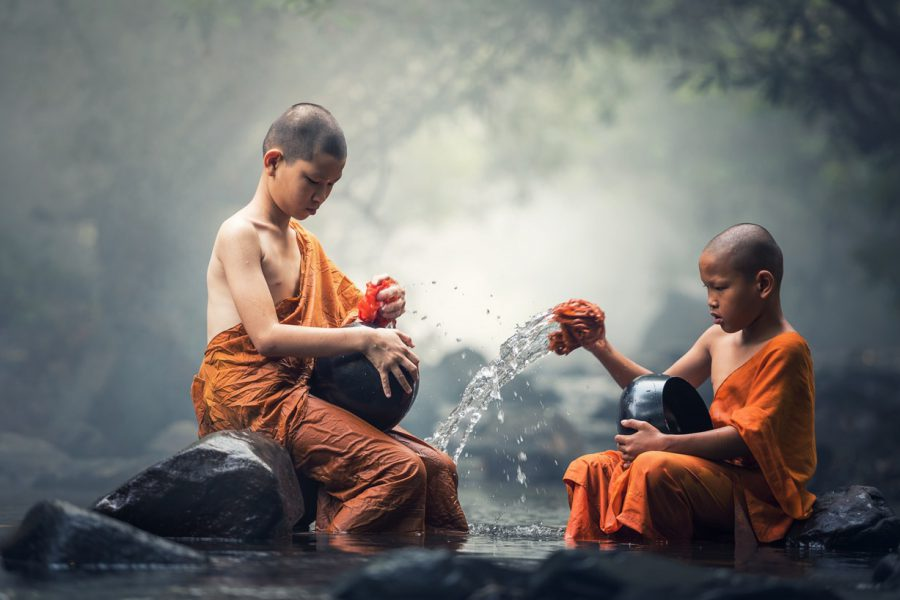 Two children, faith and childhood