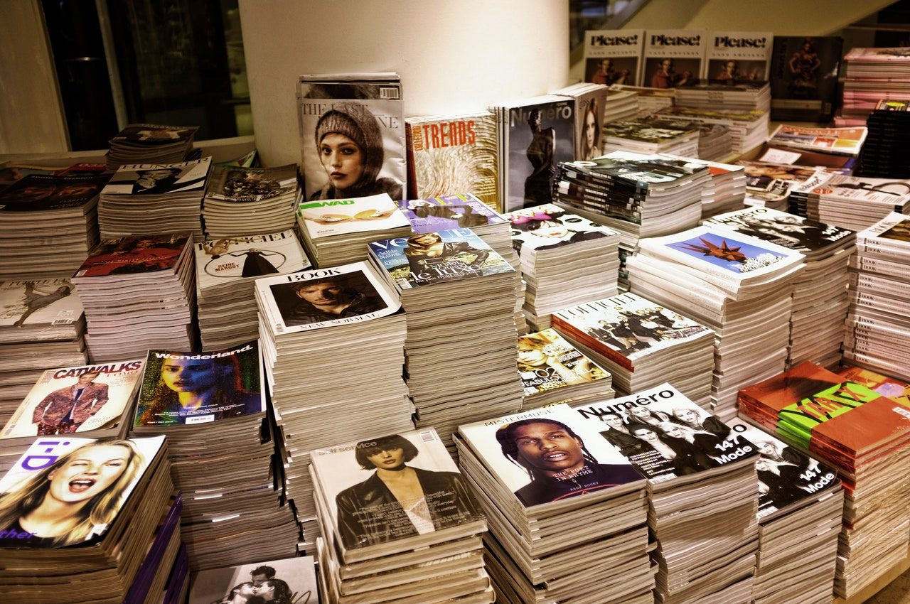The old magazine collection