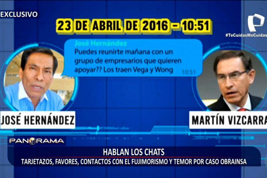 Los chats que empujan a la vacancia al presidente Martín Vizcarra [VIDEO]