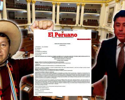 Los congresistas electos Guillermo Bermejo y Guido Bellido no integrarán comisiones de Defensa e Inteligencia